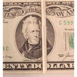 1985 $20 Federal Reserve Note Error