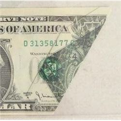 1977A $1 Federal Reserve Note Error