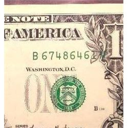 1999 $1 Federal Reserve Note Error