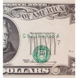 1969 $20 Federal Reserve Note Error