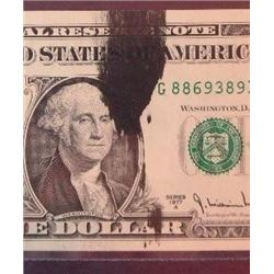 1977 A $1 Federal Reserve Note Error