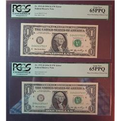 2006 $1 Federal Reserve Notes Error