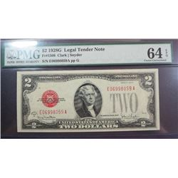 1928 G $2 US Note