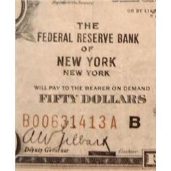 1929 $50 National Currency