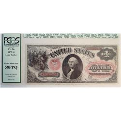 1875 $1 US Note
