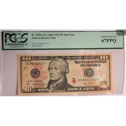 2004 A $10 Federal Reserve Note