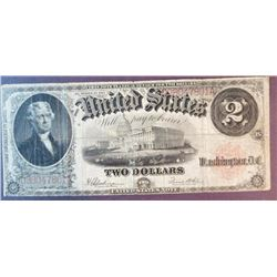 1917 $2 US Note
