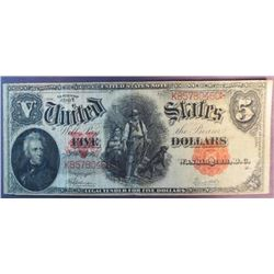 1907 $5 US Note