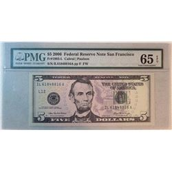 2006 $5 Federal Reserve Note