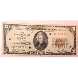 1929 $20 National Currency