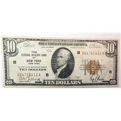 1929 $10 National Currency