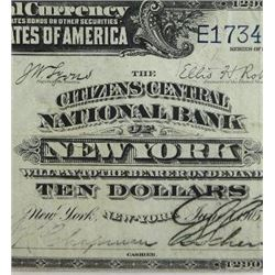 1902 Series $10 National Currency