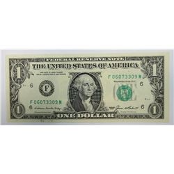 1985 $1 Federal Reserve Note