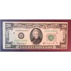 1950 D $20 Federal Reserve Note