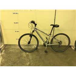 SILVER DIAMOND BACK COOPER HEAD FRONT SUSPENSION 21 SPEED HYBRID BIKE