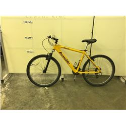 YELLOW BRODIE FORCE FRONT SUSPENSION 24 SPEED MOUNTAIN BIKE