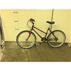 RED RALEIGH AMBUSH 18 SPEED HYBRID BIKE