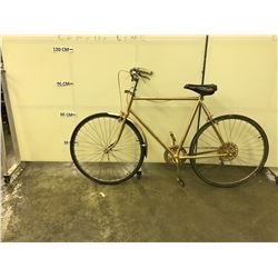 SPRAY PAINTED GOLD 25 SPEED  NO NAME ROAD BIKE