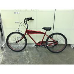 RED NERVE 7 SPEED CRUISER BIKE