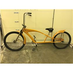 ORANGE COPPER MOON SINGLE SPEED CRUISER BIKE