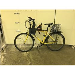 YELLOW GARY FISHER PIRANHA 21 SPEED HYBRID BIKE