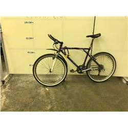 PURPLE NO NAME FRONT SUSPENSION 24 SPEED HYBRID BIKE