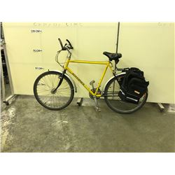 YELLOW KUWAHARA 18 SPEED ROAD BIKE