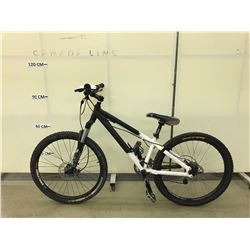 WHITE & BLACK 16 SPEED FRONT SUSPENSION MOUNTAIN BIKE WITH FULL DISC BRAKES