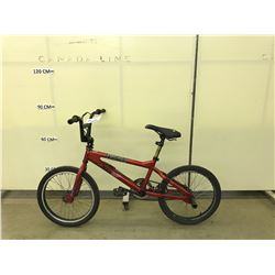 RED XGAMES BMX BIKE WITH REAR PEGS AND GYRO