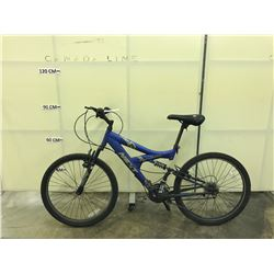 BLUE NEXT SUSPECT 24 FULL SUSPENSION MOUNTAIN BIKE