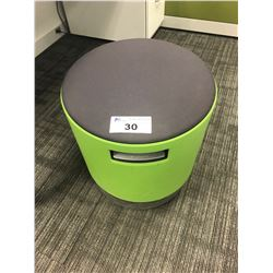 STEELCASE TURNSTONE PNUEMATIC LIFT ERGONOMIC OFFICE STOOL - GREEN