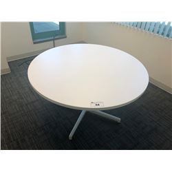 "STEELCASE TURNSTONE 48"" WHITE CONFERENCE TABLE"