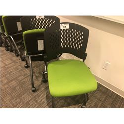 STEELCASE TURNSTONE GREEN SEAT FOLDABLE NESTING CHAIR