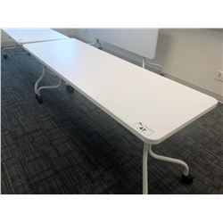 STEELCASE TURNSTONE WHITE FOLDING TOP ROLLING TABLE