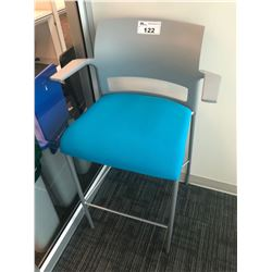 STEELCASE BLUE BAR HEIGHT OFFICE STOOL