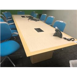 BAMBOO INLAYED TOP 14' BOARDROOM TABLE