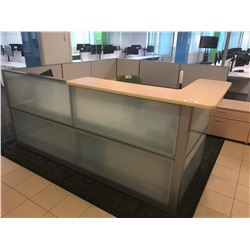 STEELCASE TURNSTONE 8' X 9' GALLERY RECEPTION STATION