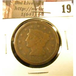 1855 U.S. Large Cent, Good.