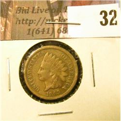 1863 U.S. Indian Cent, Good-VG.