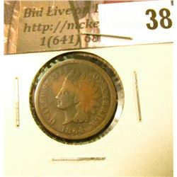 1864 L U.S. Indian Head Cent, Good, discolored.
