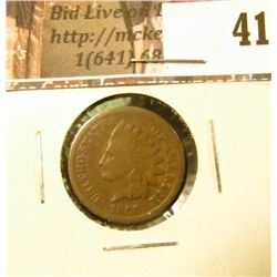 1866 U.S. Indian Head Cent, Good.