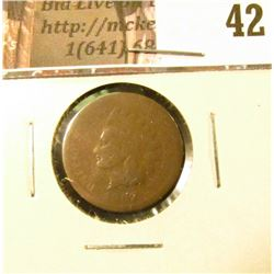 1867 U.S. Indian Head Cent, AG-G.