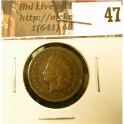 1870 U.S. Indian Head Cent, Good.