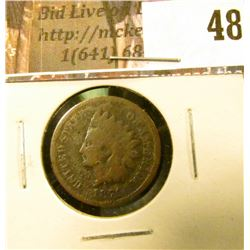 1871 U.S. Indian Head Cent, Good, pitting.