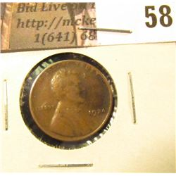 1924 D Lincoln Cent, VF.