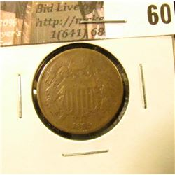 1865 U.S. Two Cent Piece. VG.