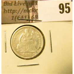 1875 P U.S. Seated Liberty Dime, VF, ground recovery.