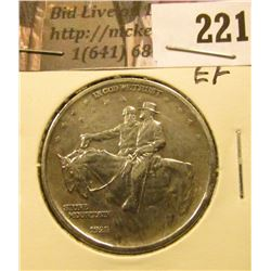 1925 Stone Mountain  Commemorative Half Dollar, EF.