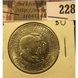 1953 S Washington/Carver Silver Commemorative Half Dollar, Brilliant Uncirculated.