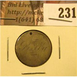 "1886 U.S. Liberty Seated Dime Love Token reverse. Says ""Billy""."
